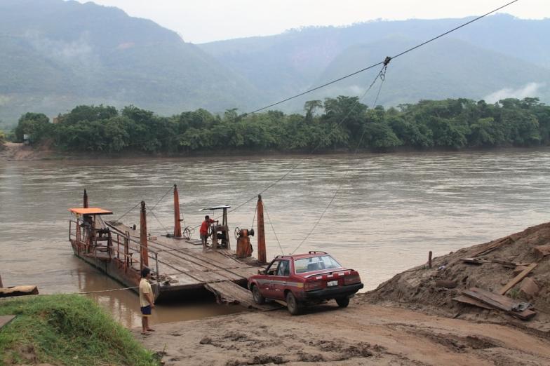 River crossing in Peru