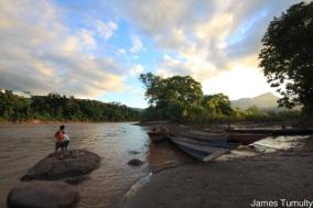 Kids playing in the Huallaga River, Chazuta, Peru